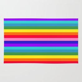 Stripes of Rainbow Colors Rug