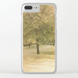 Snowy Tree Clear iPhone Case