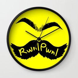 RwnlPwnl Mustache Wall Clock
