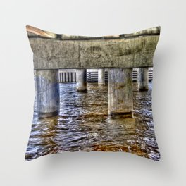 Under the New Bern Drawbridge Throw Pillow