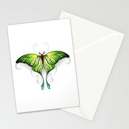 Green Butterfly Stationery Cards