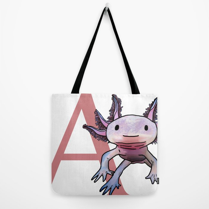 Axolotl statement style 8 tote bag shopper Le axolotl