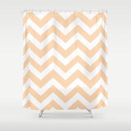 Light orange - pink color - Zigzag Chevron Pattern Shower Curtain