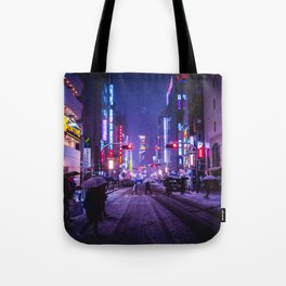 Shibuyascapes Snowy Night Tote Bag