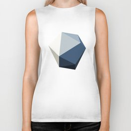 Minimal Geometric Polygon Art Biker Tank