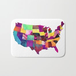 USA map art 1 #usa #map Bath Mat