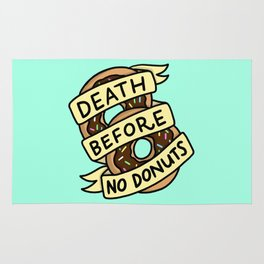 Death Before No Donuts Rug