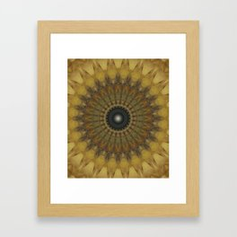 Mandala in golden tones Framed Art Print
