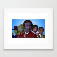 anchorman Framed Art Prints featuring Anchorman by CultureCloth