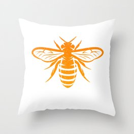 Funny Bee God Save The Queen Design Throw Pillow