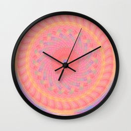 circle pink Wall Clock