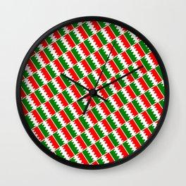Italia Colors Pattern Wall Clock