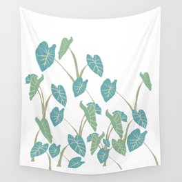 taro leaf hawaii Wall Tapestry