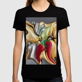 Fruit strawberry mix by Kunsthaus_Lay T-shirt