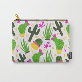 Cactus Pattern of Succulents Carry-All Pouch