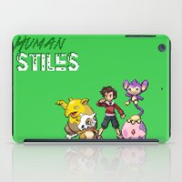 stiles iPad Cases featuring PokeWolf: Stiles Stilinski by Trickwolves