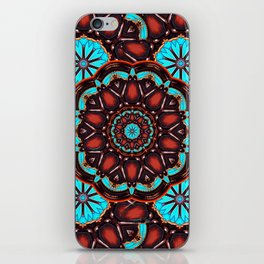 Abstract - Wood & Turquoise Pattern iPhone Skin