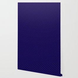Blue Black Plaid Design Wallpaper