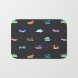 Sea slug - black Bath Mat