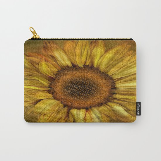 Sunflower - Vintage Carry-All Pouch