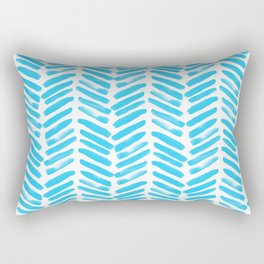 Simple Aqua and white handrawn chevron - horizontal - for your summer on #Society6 Rectangular Pillow