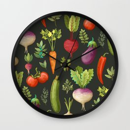 Garden Veggies Wall Clock