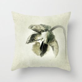 Coastal Cotton Tree - Hibiscus Throw Pillow