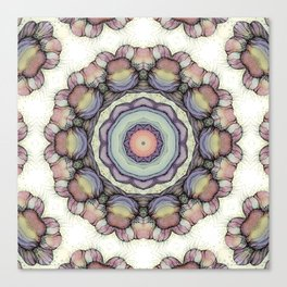 Abstract flowers mandala Canvas Print