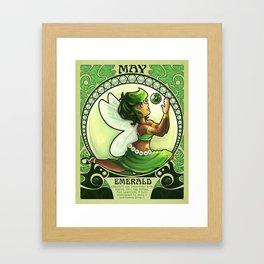 Birthstone Nouveau - May Framed Art Print