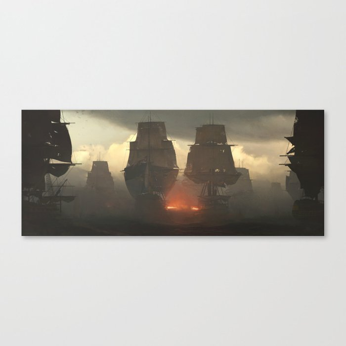 Battle of the Nile Canvas Print