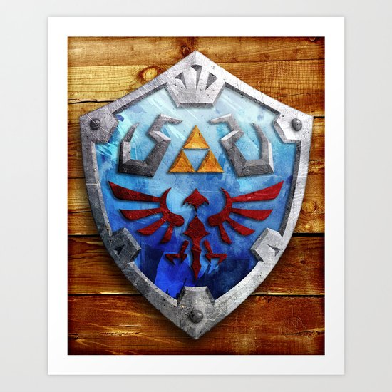 The Hylian Shield Art Print