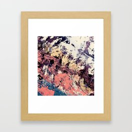 Brilliance: vibrant, colorful and textured in purple, gold, pink, blue, and white Framed Art Print