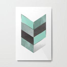 Chevron Geometric 1 Metal Print
