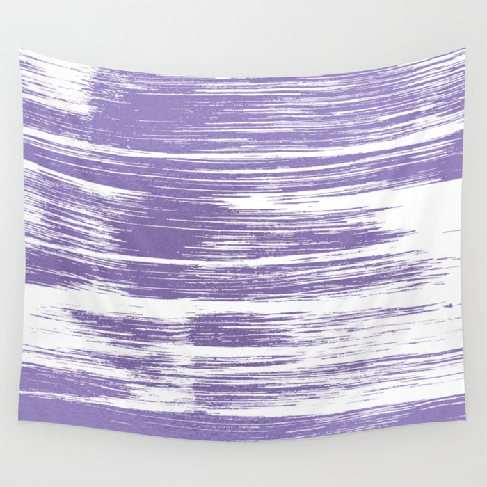 Modern Abstract Lilac Lavender White Watercolor Brushstrokes Wall Tapestry