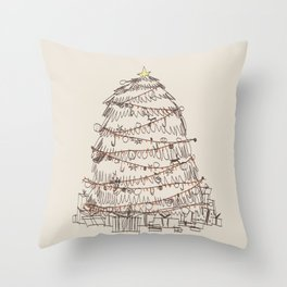 chirstmas tree Throw Pillow