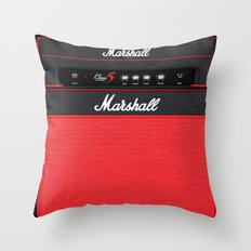 Retro Guitar Electric Amplifier Throw Pillow