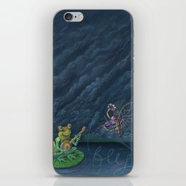 Frog & Fly: By Bradley Rabkin Golden iPhone Skin