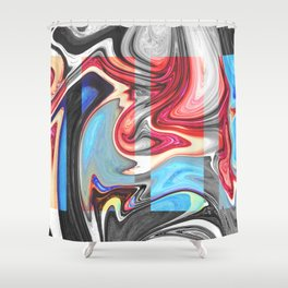 SNARL - BLACK Shower Curtain