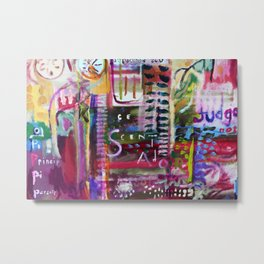Florescent Graffiti Metal Print