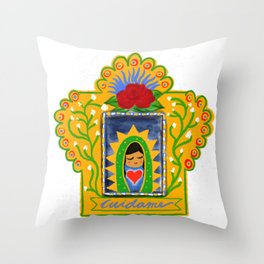 Cuidame Throw Pillow