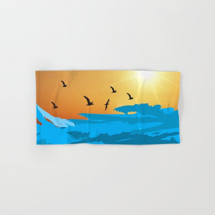 sea wave Hand & Bath Towel