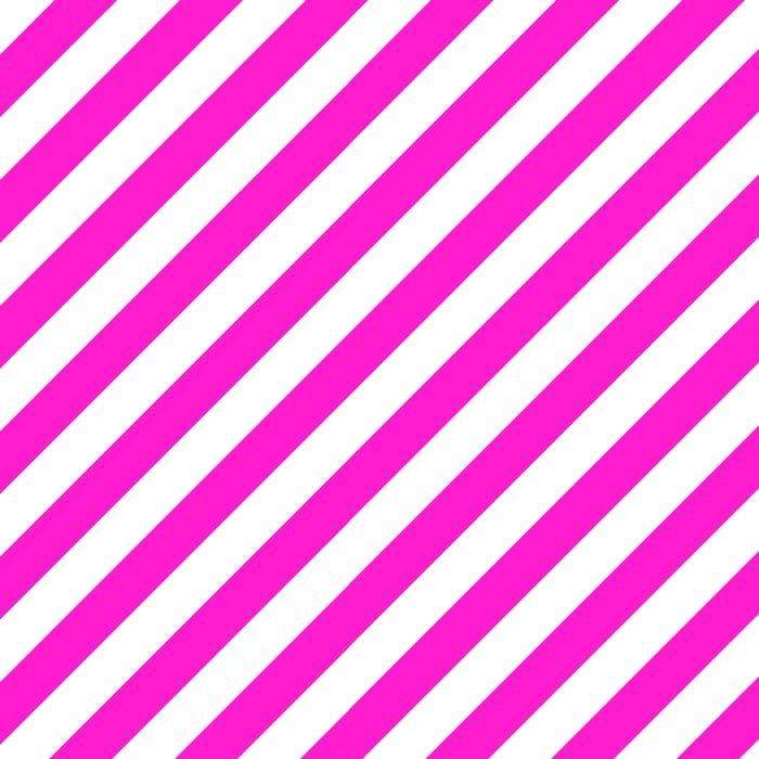 Diagonal Stripes (Hot Magenta/White) Leggings