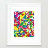 rave Framed Art Prints featuring Rave Paint by Mariah Williams
