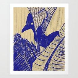 Cassowary Hide 'N Seek Art Print