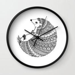 A Little Hedgehug Wall Clock