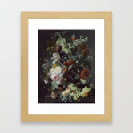 Jan van Huysum Still Life with Flowers and Fruit Framed Art Print