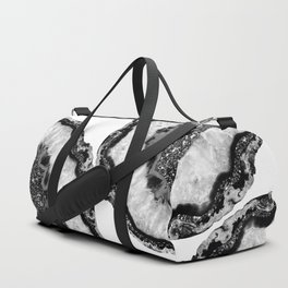 Yin Yang Agate Glitter Glam #3 #gem #decor #art #society6 Duffle Bag