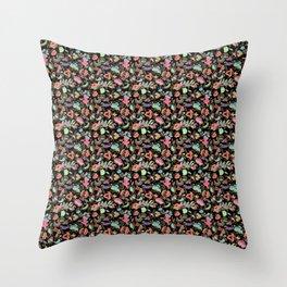 Batik Kebaya Black SQ Throw Pillow