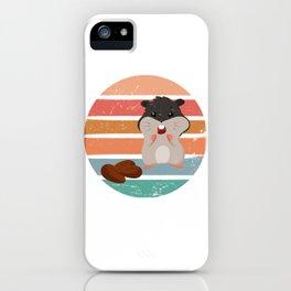 Retro Hamster iPhone Case