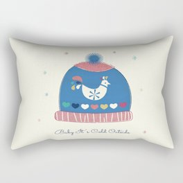 Baby it's cold outside- winter hat Rectangular Pillow